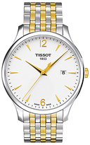 Tissot T0636102203700 Tradition Date Two Tone Bracelet Strap Watch, Silver/gold