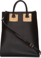 Black Leather & Rose Gold Buckled Tote