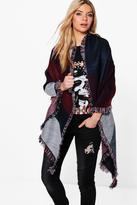 Boohoo Faye Colourblock Oversized Blanket Scarf