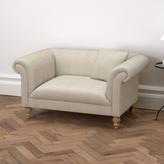 The White Company Earlsfield Linen Union Love Seat, Natural Linen Union, One Size