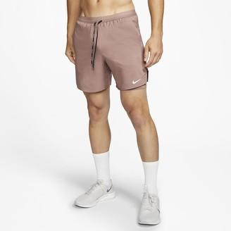 "Nike Men's 7"" 2-In-1 Running Shorts Flex Stride"