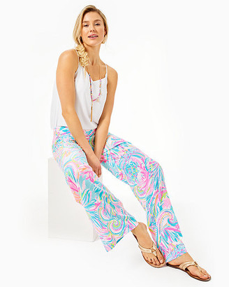 """Lilly Pulitzer 33"""" Bal Harbour Mid Rise Palazzo Pant"""