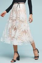 Eva Franco Floral Lace Midi Skirt