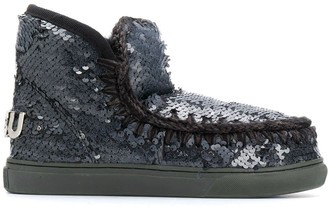 Mou Sequin Slip-On Boots