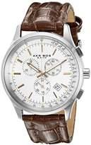 Akribos XXIV Men's AK863SSBR Round Silver Dial Chronograph Quartz Strap Watch