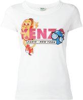Kenzo hotdog print T-shirt - women - Cotton - XS