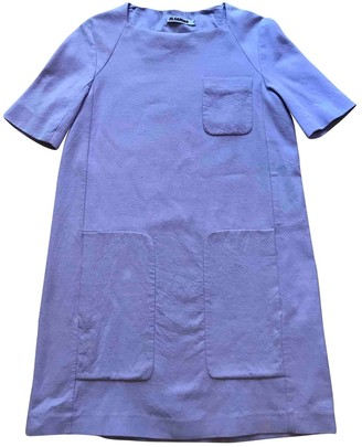 Jil Sander Purple Cotton Dresses