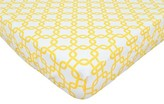 T.L.Care TL Care Golden Yellow Twill Fitted Crib Sheet
