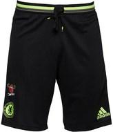 adidas Mens CFC Chelsea 3 Stripe Climacool Training Shorts Black/Granite/Solar Yellow