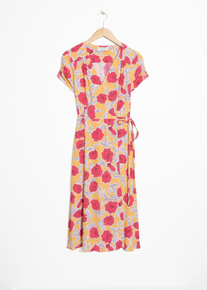 And other stories Floral Printed Wrap Dress