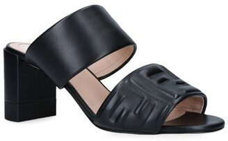 Fendi Leather Double-Strap Mules 65
