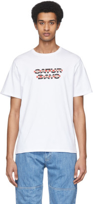 Saturdays NYC White Color Cross Out T-Shirt