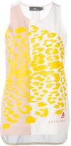 adidas by Stella McCartney leopard print tank top - women - Cotton/Modal - XS