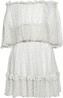 Prabal Gurung Off-the-shoulder Ruffle-trimmed Polka-dot Silk-georgette Dress