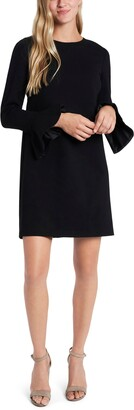 CeCe Ponte Long Sleeve Minidress