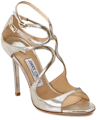 Jimmy Choo Lang 100 Glitter Leather Sandal