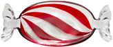 Mikasa Peppermint Twist Glass Candy Wrapper Dish