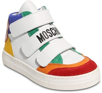 Moschino Leather & Suede High Sneakers