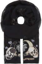 Alexander McQueen Witchcraft silk-blend scarf