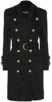 Balmain Cotton-twill trench coat