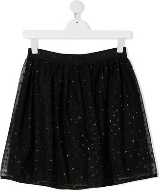 Alberta Ferretti Kids TEEN glitter polka dot tutu skirt