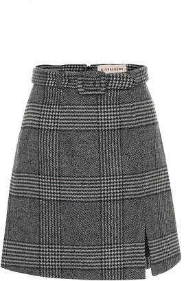 ALEXACHUNG Whatever Prince of Wales checked miniskirt