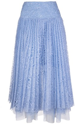Ermanno Scervino Light Blue Sangallo Lace Skirt