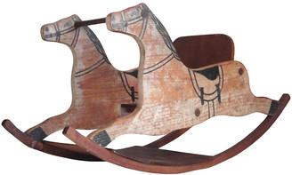 One Kings Lane Vintage 19th Original Childs Rocking Horse - Luis Rodriquez - multi