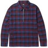 Stüssy - Slim-fit Checked Cotton Half-zip Overshirt