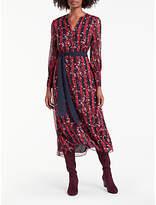 Boden Primrose Midi Dress, Post Box Red/Navy
