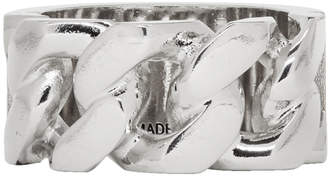 Alexander McQueen Silver Identity Chain Ring
