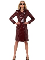 Burberry Laminated Leather Trench Coat