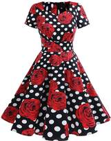 Dresstells® Retro 50s Solid Color Cocktail Prom Audery Swing Dress