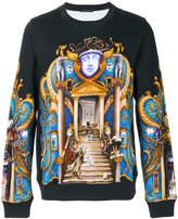 Versace Triptych print sweatshirt