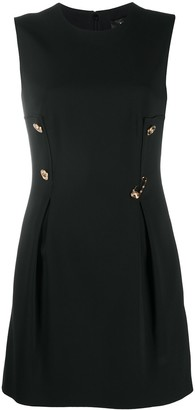 Versace Safety Pin Detail Mini Dress