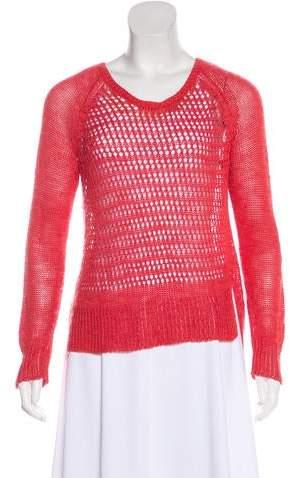Elizabeth and James Linen-Blend High-Low Sweater