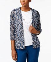 Alfred Dunner Layered-Look Eyelash Top with Removable Necklace