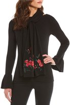 Lauren Ralph Lauren Chrysanthemum Embroidered Scarf