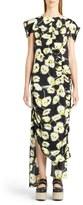 Marni Whisper Print Asymmetrical Dress