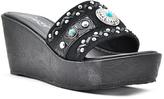 Grazie Black Thora Leather Sandal