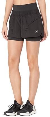 adidas by Stella McCartney Truepur Shorts FU0280 (Black) Women's Casual Pants