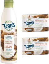 Tom's of Maine Coconut Body Wash and Soap - Set of Three