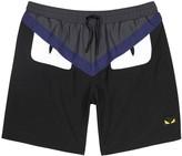Fendi Black Monster Swim Shorts