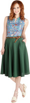 Breathtaking Tiger Lilies Skirt in Stem Green
