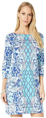 Lilly Pulitzer Bay Dress (Lapis Lazuli Your Biggest Fan) Women's Clothing