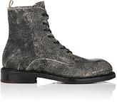 Elia Maurizi Men's Cracked Leather Lace-Up Boots-BLACK