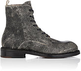 Elia Maurizi MEN'S CRACKED LEATHER LACE-UP BOOTS