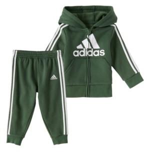 adidas Toddler Boys Classic Fleece Jacket and Pants Set, 2 Piece