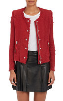 IRO Women's Agnette Distressed Cotton Jacket-RED