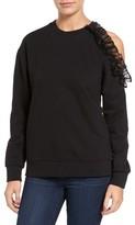 Women's Ro & De Ruffle Cold Shoulder Sweatshirt
